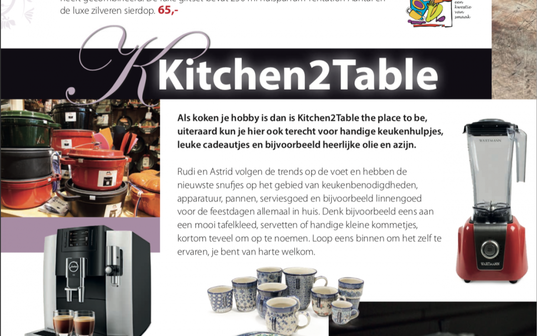 Kitchen2table in magazine Verrassend Winkelen